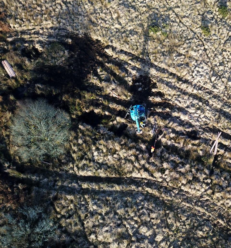 peatland restoration aerial view